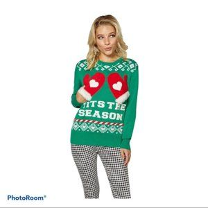 Spencer's Ugly  Christmas Tits the Season Sweater